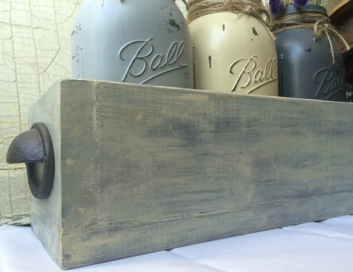 How to build a quart size mason jar box