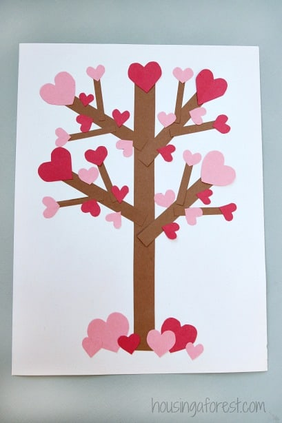 Valentine's Craft heart tree