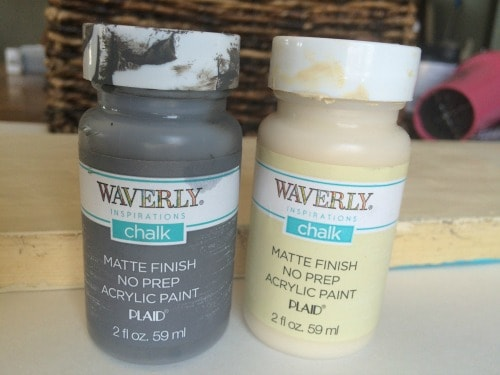 make crackle paint with glue and waverly chalk paint