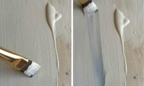 chalk paint blending technique on a wood farmhouse serving tray