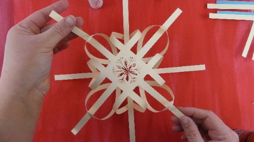 two sides of 3d snowflake put together