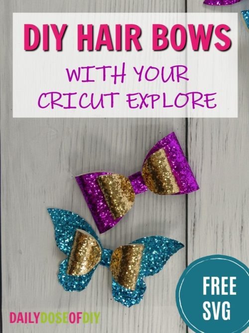 How To Make A Hair Bow With Your Cricut Free Bow Svg File