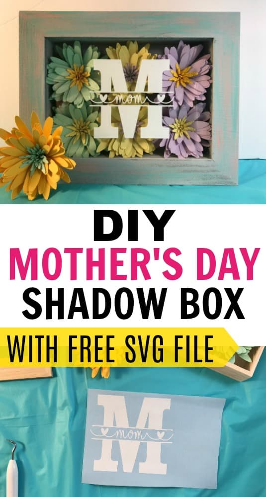 How to Make a Paper Flower Shadow Box Display For Mom