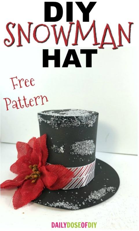 How to make a snowman hat wit free pattern