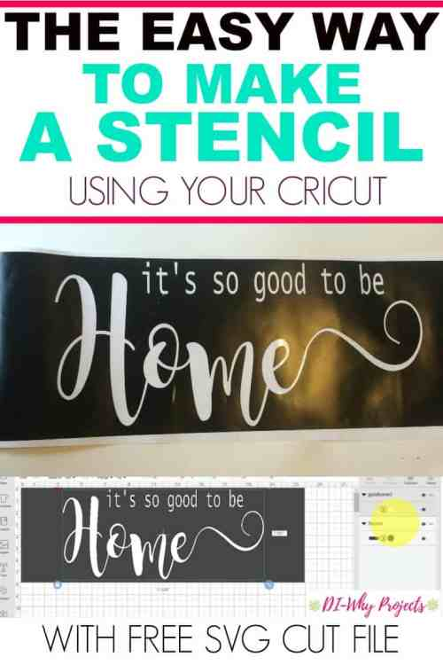 The easy way to make a stencil with your cricut,