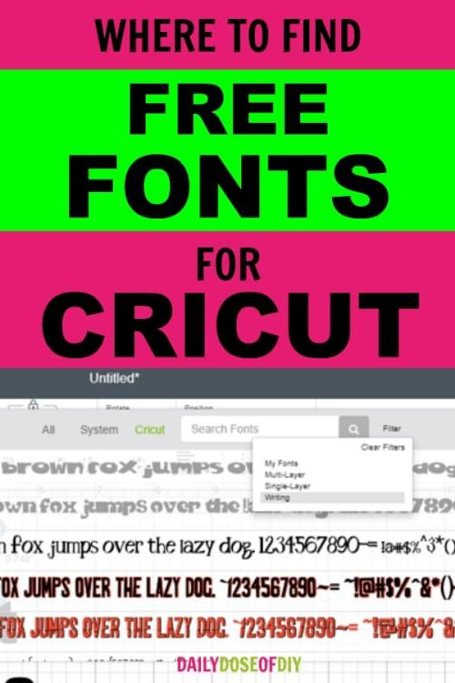 TOP FIVE PLACES TO FIND FREE FONTS FOR CRICUT DESIGN SPACE