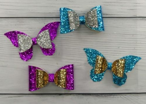 Glitter hair bows cut with Cricut explore