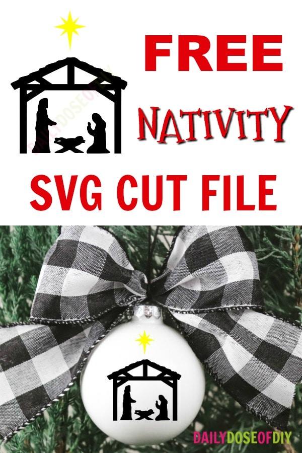 Free Nativity Scene SVG cut file
