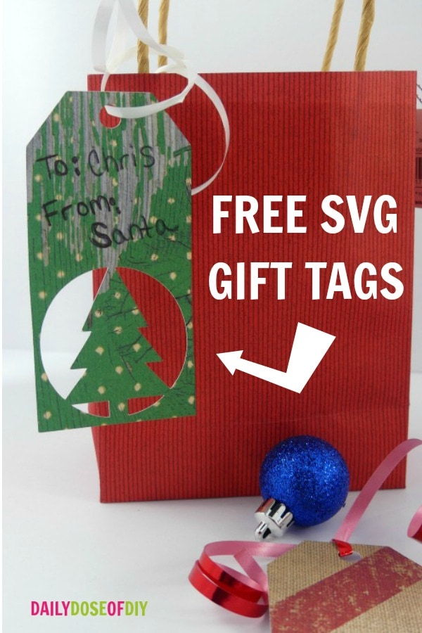 Free SVG Christmas Gift Tag, ready to upload and cut.