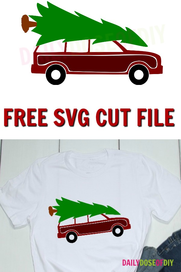 Griswold Family Christmas car and tree free SVG file