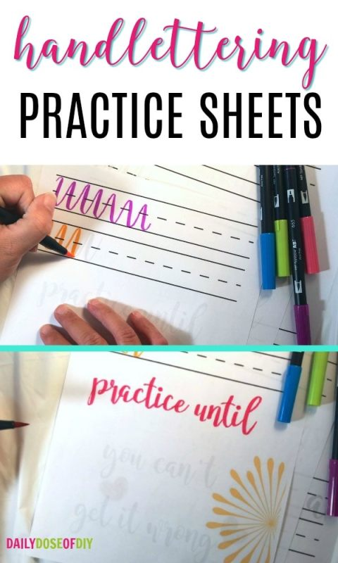 hAND LETTERING PRACTICE SHEETS TO IMPROVE YOUR HAND LETTERING SKILLS IN 30 DAYS