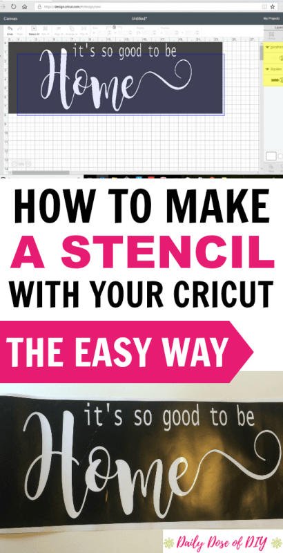 How To Make A Stencil With Your Cricut
