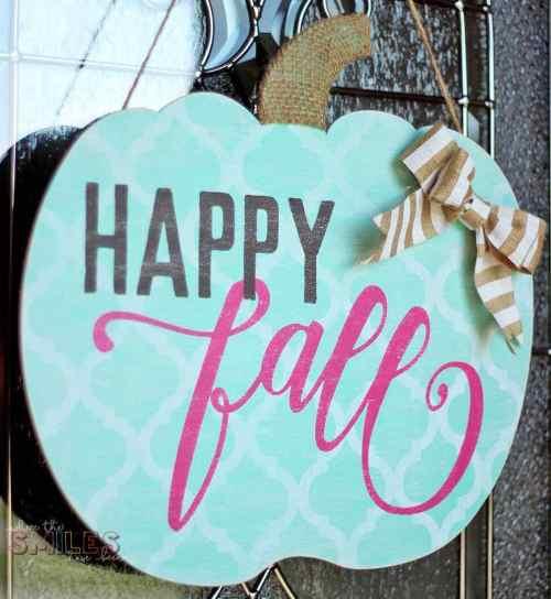 fall pumpkin door hanger