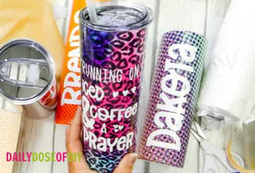 Cricut Infusible Ink on Tumblers