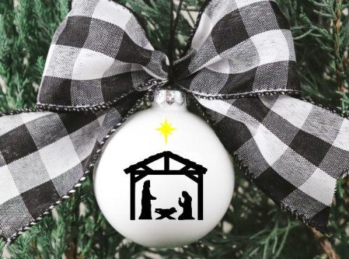 Free Nativity SVG Cut File   12 Days of Free Christmas SVGs