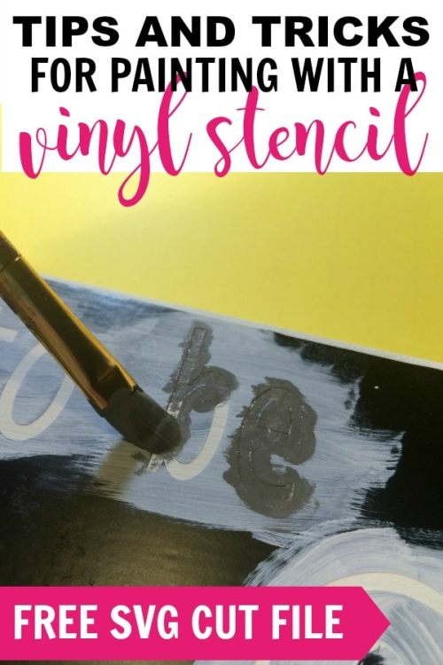 How to paint a wood sign with a vinyl stencil. See my tips and tricks to help you get great results