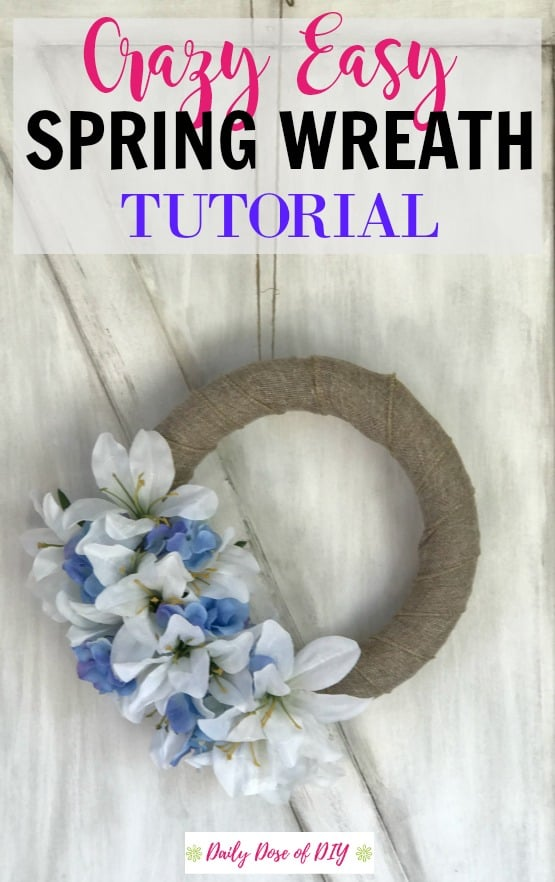 DIY Spring Farmhouse Wreath Tutorial. A crazy easy way to update your home for Spring