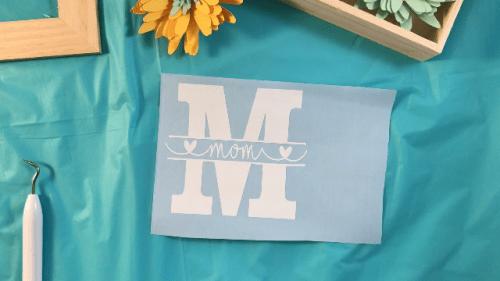 Free Mom Monogram SVG file for cutting machines.