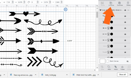 How to use the free arrow svg file