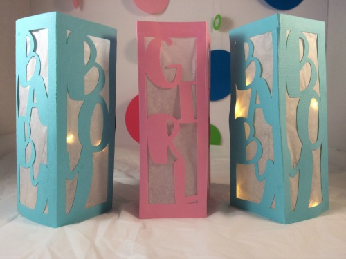 Add lights to the DIY baby Shower lanterns