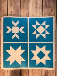 DIY Painted Star Quilt Blocks With FREE SVG Cut File