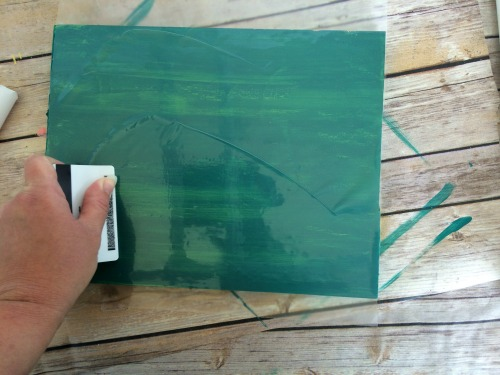 How to chippy paint using contact paper to chip off the layers of paint