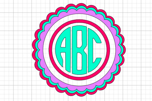 How To Make A Circle Monogram On Your Cricut