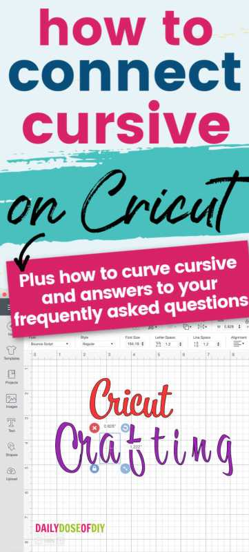 how to connect cursive letters on cricut