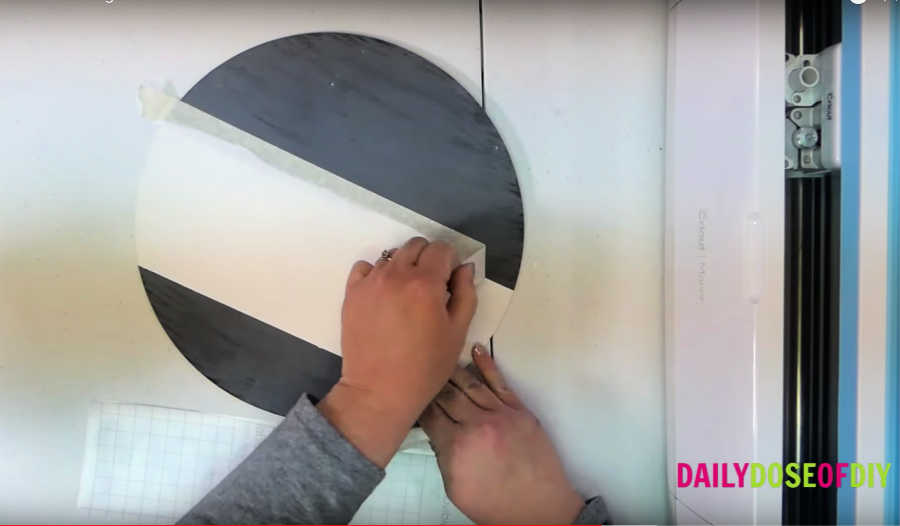 remove tape from circle door hanger