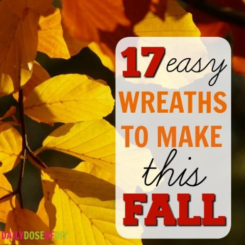 17 easy fall wreaths to make