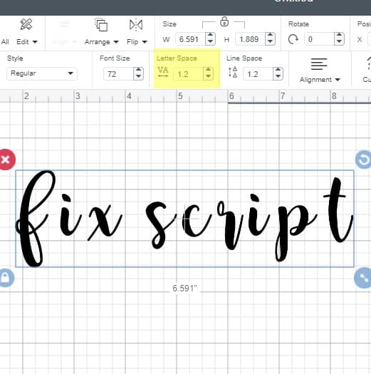Joining script together in cricut design space
