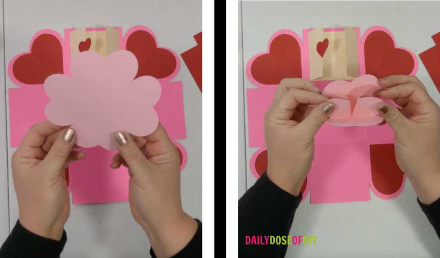 fold the expanding heart for the exploding box