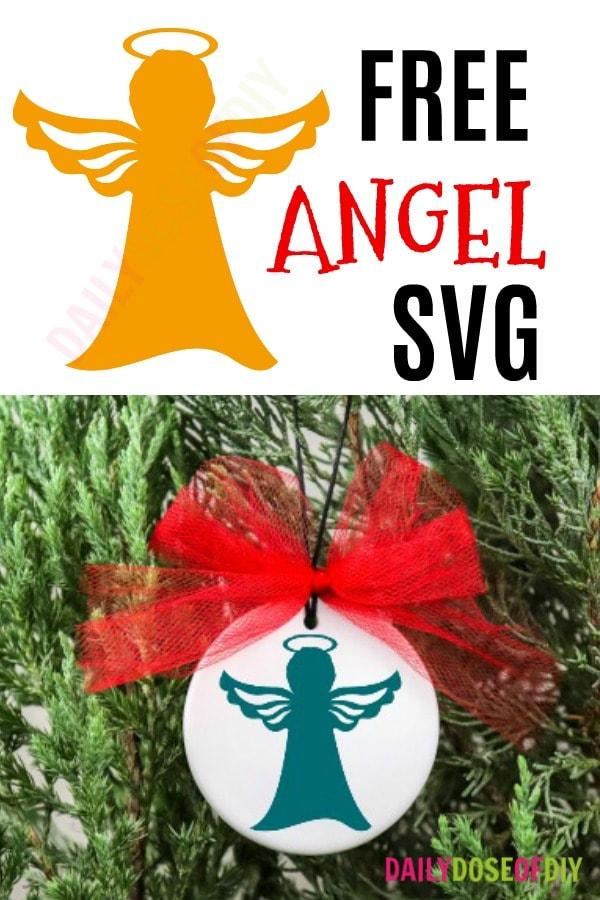 Free Angel SVG cut file for Cricut