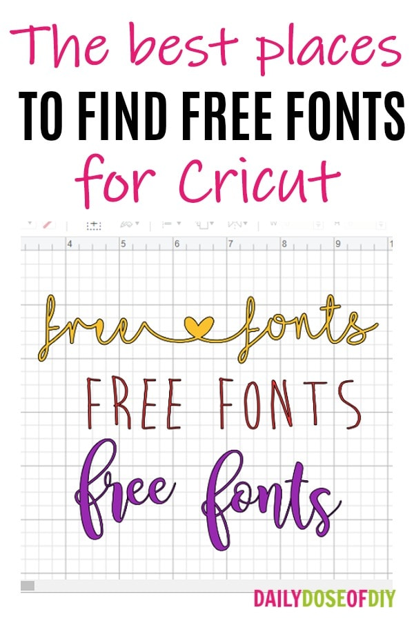 Download free fonts cricut - Daily Dose of DIY