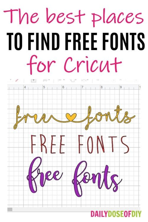 The best place to find free fonts for Cricut