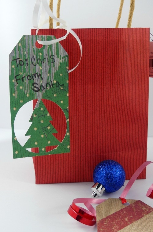 Free Christmas Gift Tag SVG cut with the Cricut Explore cutting machine