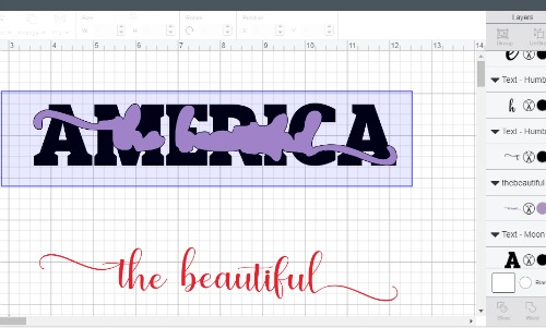 slicing the knockout design in cricut design space