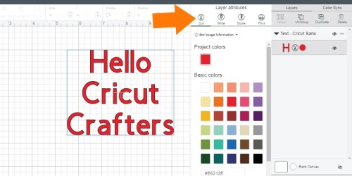 How to change to print or score in Cricut Design Space