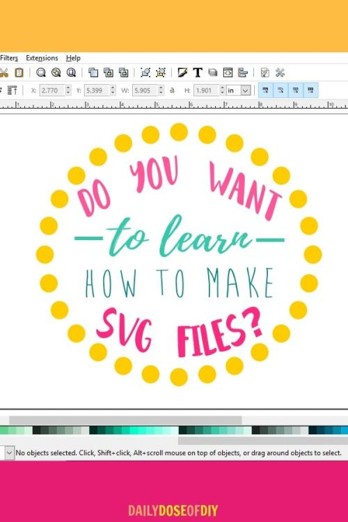 learn how to make svg files with the cut about svg design course