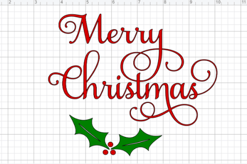 Free Merry Christmas SVG file in Cricut Design Space