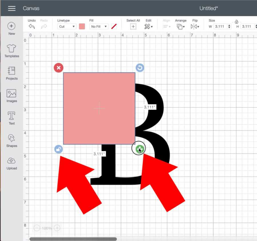 Make a split level monogram in cricut design space
