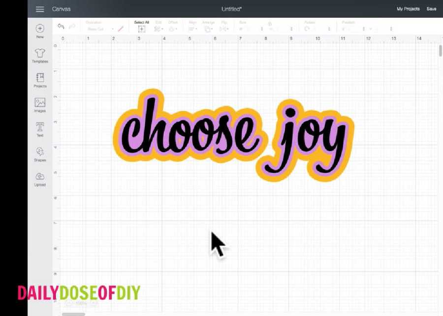 New update offset text in Cricut Design Space
