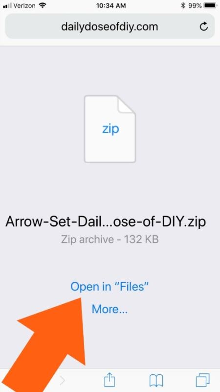 Opening a zip file on an iPhone or iPad