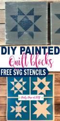 svg quilt blocks block diy painted stencil cut star dose daily stencils leave tweet