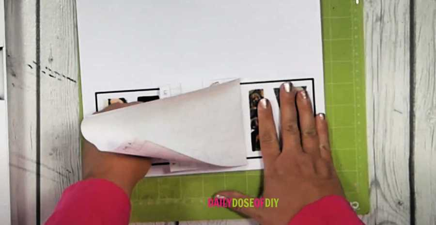 Place clear shelf liner over your printed design to make it look glossy and to protect the letters as they cut