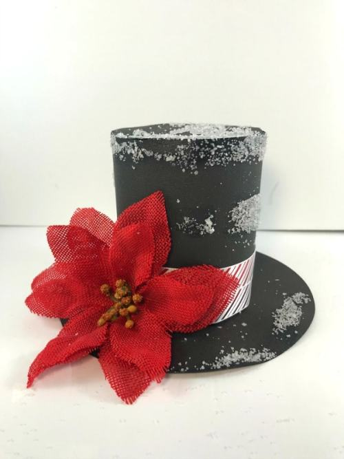 Finished DIY snowman hat