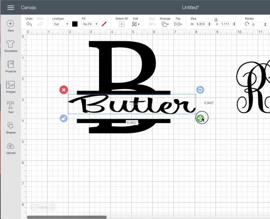 Make a split level monogram with your cricut cutting machine
