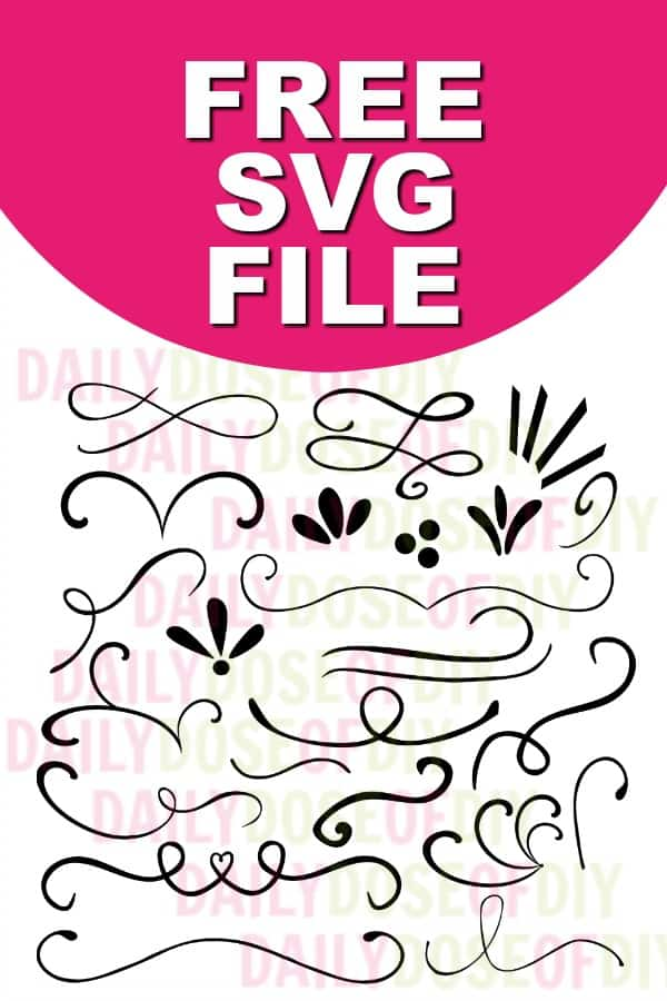 Download Text Dividers And Flourishes Free SVG Cut File - Daily ...