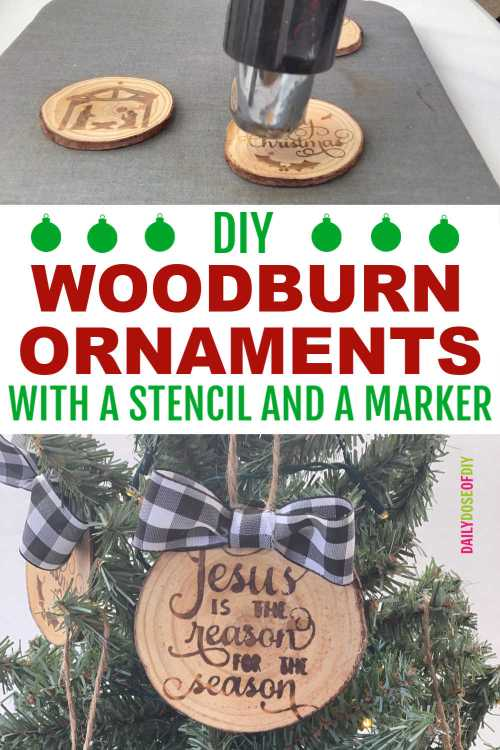 DIY WOODBURN ORNAMENTS