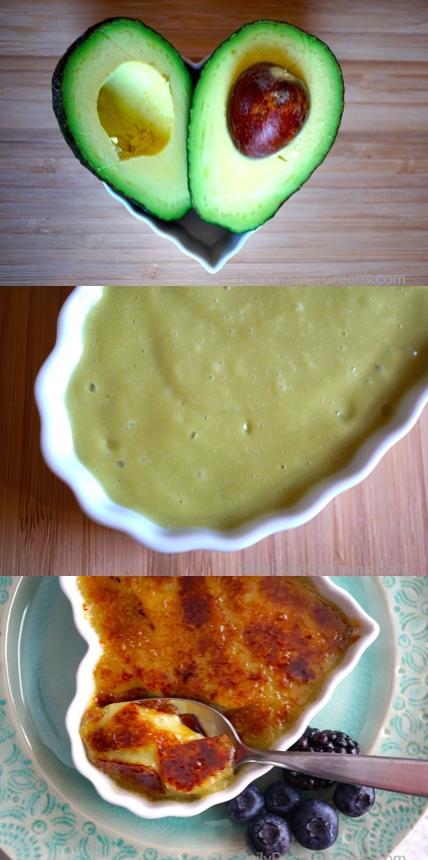 avocado crème brûlée